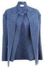 Maison Rabih Kayrouz - Blazer a strati - women - Cupro/Wool - 38 - BLUE
