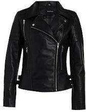 Amelia Leather Biker Jacket