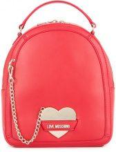 Love Moschino - Zaino con dettaglio catena - women - Polyurethane - OS - RED