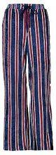 Simone Velvet Striped Popper Wide Leg Trouser