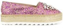Sebastian - embellished glitter platform espadrilles - women - Crystal/Leather/rubber - 36, 37, 38, 39, 40, 41 - PINK & PURPLE