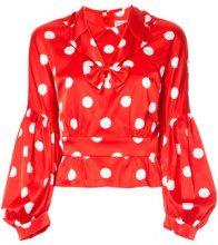 Comme Des Garçons Vintage - polka dot blouse - women - Polyester - XS - RED