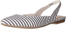 Tamaris 29406, Sandali con Zeppa Donna, Multicolore (Navy Stripes 874), 38 EU