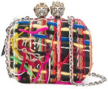 Alexander McQueen - Clutch 'Queen and King' - women - Leather/Cotton - OS - MULTICOLOUR