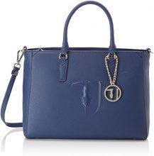 Trussardi Jeans Ischia, Borsa Tote Donna, Blu (Blue), Taglia unica (18x42x46 cm)