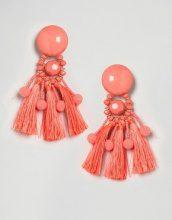 ASOS - Orecchini con perline e nappe - Arancione