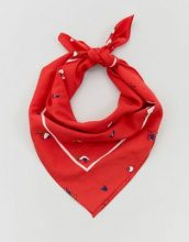 Pieces - Foulard stampato - Rosso