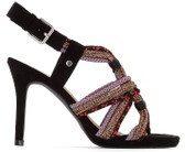 Sandali cinturini cordoncino con paillettes