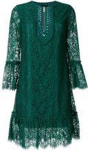 John Richmond - jewelled scalloped dress - women - Cotton/Acrylic/Nylon/Viscose - XS, S, M - GREEN