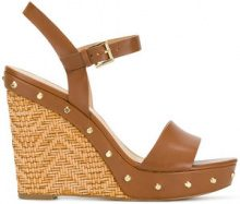 Michael Michael Kors - Sandali 'Jill' con zeppa - women - Calf Leather/Leather/rubber - 8.5, 9.5, 10, 11 - Marrone