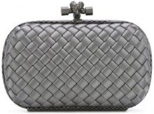 Bottega Veneta - Clutch con pattern zig-zag - women - Snake Skin/Viscose - One Size - GREY