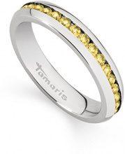 Tamaris anello per donna Daisy in acciaio con zirconi, acciaio inossidabile, 52 (16.6), colore: Argento/giallo, cod. A02310212
