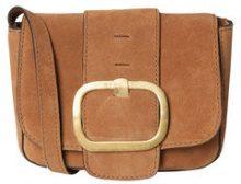 PIECES Suede Crossbody Bag Women Brown