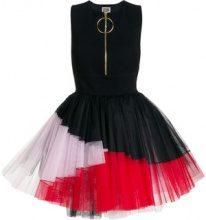 Fausto Puglisi - tulle hem mini dress - women - Nylon/Viscose/Lyocell/Spandex/Elastane - 42 - BLACK
