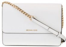 Michael Kors Collection - Daniela large crossbody bag - women - Calf Leather - One Size - WHITE