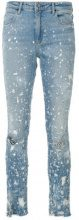 - Alexander Wang - Jeans Whiplash - women - Spandex/Elastane/Calf Leather/Cotone/Polyester - 28, 29, 25, 26, 27 - Blu