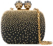 Alexander McQueen - Clutch 'Queen and King' - women - Leather/Brass - One Size - BLACK