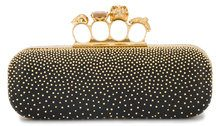 Alexander McQueen - Clutch ad astuccio - women - Leather/Metal (Other) - One Size - BLACK