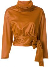 Issey Miyake Vintage - Blusa con fiocco - women - Polyester - S - YELLOW & ORANGE