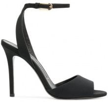 Stella Luna - ankle strap sandals - women - Leather/Satin - 36, 36.5, 37, 38.5, 39, 39.5, 40 - BLACK