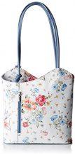 Chicca Borse 80056, Borsa a Spalla Donna, Multicolore (Fiori/Bluette), 27x30x9 cm (W x H x L)