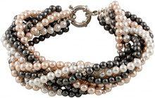 Bella Pearls Donna 925 argento Rotonda Rotonda perla cinesa da coltivazione rosa Perla
