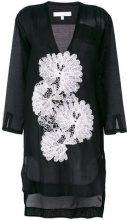 Lila.Eugenie - Copricostume con dettagli di pizzo - women - Silk/Cotton - S - BLACK