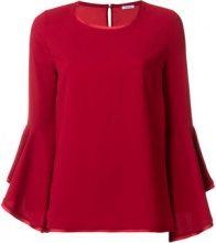 - P.A.R.O.S.H. - Blusa con maniche a campana - women - fibra sintetica - XS, S, L - di colore rosso