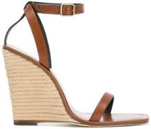 Saint Laurent - espadrille wedges - women - Calf Leather - 36, 37, 37.5, 38, 38.5 - BROWN