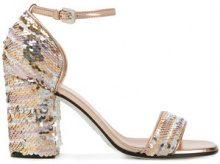 Pollini - Sandali con lustrini - women - Leather/Sequin - 36, 37.5, 40 - Bianco