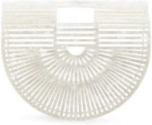 Cult Gaia - Acrylic Ark Small tote bag - women - Bamboo/Acrylic - One Size - WHITE