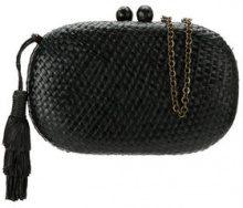Serpui - hanging tassel clutch - women - Straw - OS - BLACK