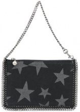 Stella McCartney - 'Falabella' star detail clutch - women - Cotton/Metal (Other) - OS - Nero