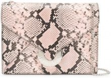 Just Cavalli - Borsa a spalla con design serpente - women - Cotton/Goat Skin/Zinc/copper - OS - PINK & PURPLE