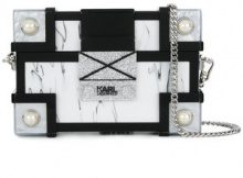 Karl Lagerfeld - Treasure Box Minaudiere clutch - women - Acrylic - OS - BLACK
