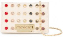 Zac Zac Posen - Earthette credit card case - women - Calf Leather/Swarovski Crystal - OS - NUDE & NEUTRALS