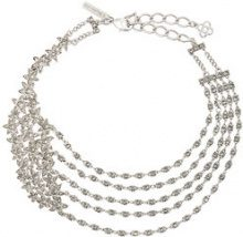 Oscar de la Renta - Star fish necklace - women - Crystal/Brass/Pewter - One Size - GREY