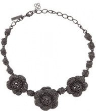 Oscar de la Renta - Gardenia Pave necklace - women - Gold/Brass/Pewter/glass - OS - BLACK