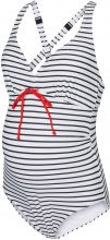 MAMA.LICIOUS Striped Swimsuit Women White