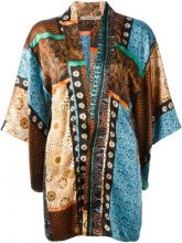 Ermanno Gallamini - patchwork print kimono top - women - Silk - S - Multicolore