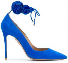 Aquazzura - Desert Rose pumps - women - Suede/Leather - 36, 37, 37.5, 38, 38.5, 39 - BLUE