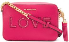 Michael Michael Kors - Borsa a tracolla 'Ginny Love' - women - Leather - One Size - PINK & PURPLE