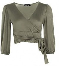 Petite Casey Exaggerated Sleeve Top