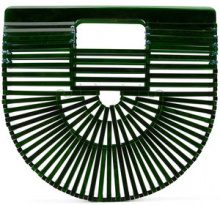 Cult Gaia - Borsa Clutch strutturata - women - Acrylic - One Size - GREEN