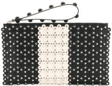 Red Valentino - Borsa Clutch con borchie - women - Calf Leather - One Size - Nero