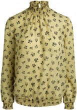 PIECES Patterned High Neck Blouse Women Yellow
