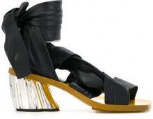 Proenza Schouler - Sandali con nastro alla caviglia - women - Nappa Leather/Leather - 40, 40.5, 41 - Nero