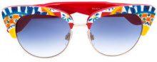 Dolce & Gabbana Eyewear - Mambo print sunglasses - women - Acetate/Metal (Other) - OS - RED