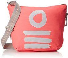 Oilily Fun Nylon Shoulderbag Mvz - Borse a spalla Donna, Rosa (Pink), 8x28x36 cm (B x H T)