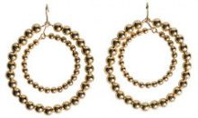 PIECES Lizzy Hoop Earrings Women Gold